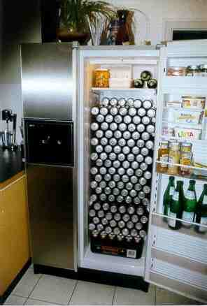 all beer in fridge