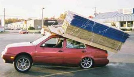 car with too much on top