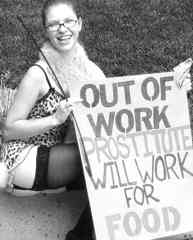 prostitute will work for food