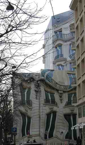 melted buildings