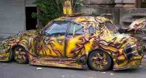 melted taxi