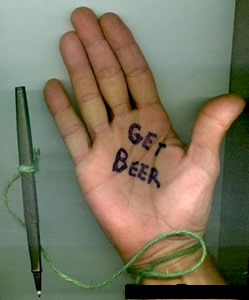 get beer on palm
