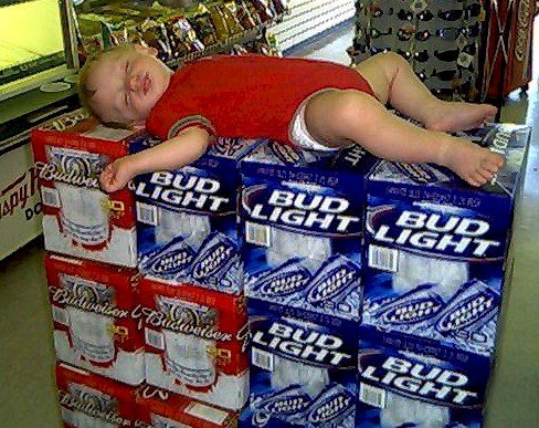 baby on beer