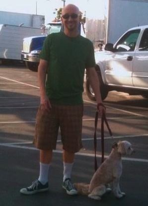 another cute picture of john starr extra and his dog lucky