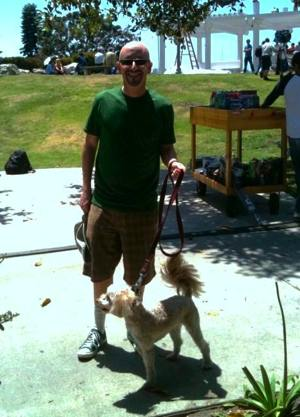 John Starr and his dog Lucky Starr