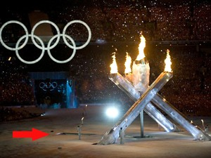 olympic flame malfunction